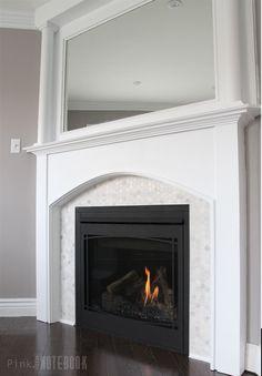 Corner Fireplace Before & After DIY | Pink Little Notebook