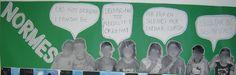 Normes d'aula amb fotos dels alumnes, mida A-3.