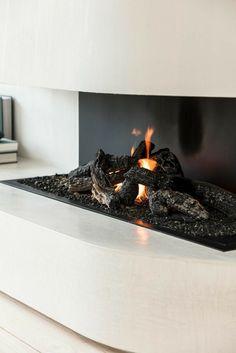 Foyers, Interior Architecture, Interior Design, Wood Logs, Open Fireplace, Light My Fire, Minimalist Design, Insert, Urban