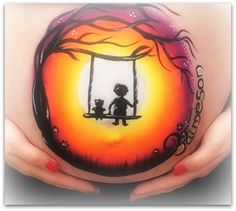 We offer professional baby bump painting / pregnancy art. Professional Face Paint, Bump Painting, Pregnant Belly Painting, Belly Casting, Pregnancy Art, Belly Bump, Washable Paint, Baby Belly, Baby Bumps