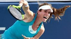 Johanna Konta beat Kiki Bertens and won 89% of points on her first serve  Britain's Johanna Konta beat Kiki Bertens of the Netherlands to reach the third round at the Cincinnati Open.  World number seven Konta broke early on in the first to take the set 6-3 with a strong performance on her first serve. Bertens ranked 27th broke Konta in the second set but the Briton found three breaks of her own to win 6-3 6-3. Konta  will play either Alize Cornet of France or Slovakian Dominika Cibulkova…