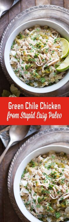 Green Chile Chicken | http://StupidEasyPaleo.com