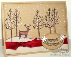 Stampin' Up! White Christmas Card - Create With Christy - Christy Fulk, Stampin' Up! Demo
