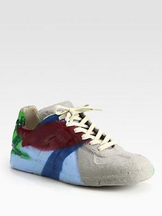 Maison Martin Margiela Cement-Dipped Graffiti Sneakers