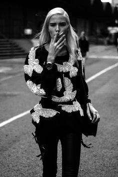 Image de cigarette, model, and smoke