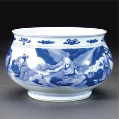 A BLUE AND WHITE CENSER QING DYNASTY, KANGXI PERIOD