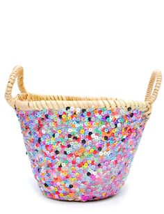 sequin basket // new arrivals