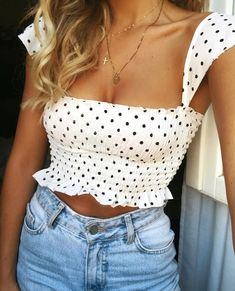 Image cute summer outfits 2019 hosted in Elimg Girly Outfits, Mode Outfits, Cute Summer Outfits, Simple Outfits, Spring Outfits, Fashion Outfits, Outfit Summer, Fancy Casual Outfits, Tumblr Summer Outfits