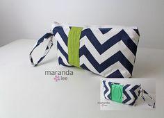 Diaper Wipes Clutch  Zippered Chevron Diaper Bag by marandalee, $25.00