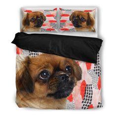 Luto Home Tibetan Spaniel Print Bedding Set Cute Pomeranian, Cute Chihuahua, Pink Bedding Set, Bedding Sets, Animal Print Bedding, Exotic Cats, Red Dog, Black Labrador, Cat Breeds