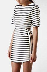 Topshop Stripe A-Line Dress
