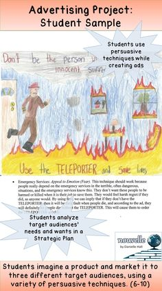 This a student sample of my Advertising Project in action. This is one ad from students' TELEPORTER campaign, geared at emergency service workers. (6-10)