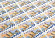 Hawaii Love Stamp Set - Vintage Unused Postage for your wedding, event or every day mailings!