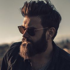 Sunset and beard. @slackerblack