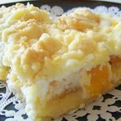 Cream cheese Peach Pie