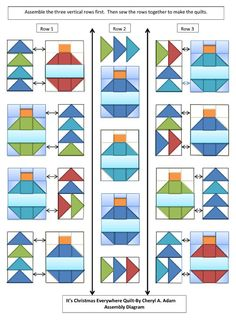 Christmas Ornaments Quilt Blocks