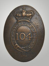 Canadian War Museum- Enlisted Man's Shoulder Belt Plate 104th (New Brunswick) Regiment of Foot 1810-1817