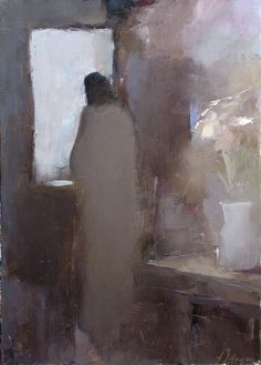 barauxfolies:  Waiting by Alexander Zavarin (Belarus, b. 1954)  (more Zavarin)