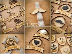 My new hanging decorations have arrived from the lovely time to get threading! Wedding Badges, Wedding Pins, Laser Engraving, Engraving Ideas, Laser Art, Laser Machine, Wooden Bow Tie, Diy Birthday, Shop Signs