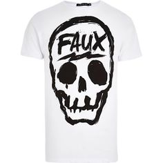 White Friend or Faux skull print t-shirt - branded t-shirts - t-shirts / vests - men