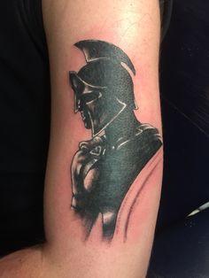 Spartan tattoo start of sleeve