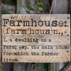 Our farmhouse sign is a beautifully crafted handmade sign that makes the perfect wooden decorative sign. For more please visit, www.decorsteals.com OR www.facebook.com/decorsteals