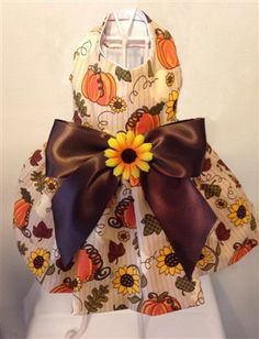 Sunflower and Pumpkin Dog Dress by OurLove4Pets on Etsy