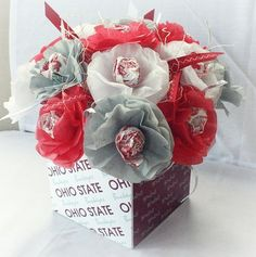 ohio+state+themed+wedding | ohio state themed wedding | Tissue Paper Flowers Lollipop Sucker Ohio ...