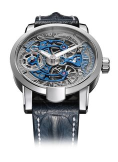 The #arminstrom Skeleton Pure Water recently won Germany's prestigious Red Dot Award for design. This watch is outfitted with Armin Strom's Caliber ARM09-S, which is skeletonized and features a mainplate accentuated through 3D PVD colorization. Read more at: http://www.watchtime.com/wristwatch-industry-news/watches/showing-at-watchtime-new-york-2015-armin-strom-skeleton-pure-water/ #watchtime #luxurywatch #horology