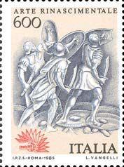 Esposizione internazionale di filatelia, a Roma - arte rinascimentale - 13 febbraio 1985