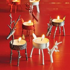 Grazing Reindeer Tealight Candle Holder, available at #surlatable