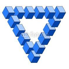 optische Täuschung, falsches Dreieck von dipego, lizenzfreies Foto ...