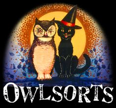 Owl Sorts - Halloween vintage-y collections of goodies