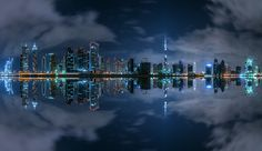 Dubai, Business Bay, Panorama, UAE, 2015