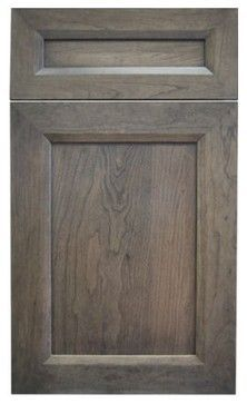cherry with gray brown stain -  Could be a nice floor color! Or to redo my entertainment center