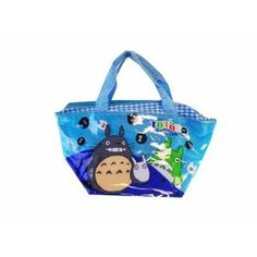 Light Blue Totoro Tote Bag