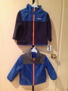 57258dcc0 NWT OSHKOSH Boys Girls Reversible Fleece Microtech Jacket Sz 18 M~  Blue/Orange #OshKoshBgosh #Jacket #Everyday
