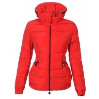 Moncler Epine Windproof Collar Jackets Womens Down Red
