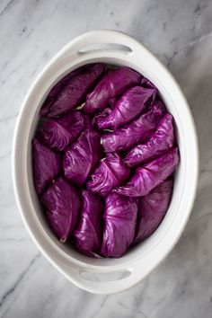Asian Stuffed Red Cabbage Rolls — Madeline Hall - Yemekler - There are two things you should try over the next week or so, and that includes stuffed cabbage ro - Vegetable Recipes, Vegetarian Recipes, Cooking Recipes, Healthy Recipes, Kid Recipes, Recipies, Purple Cabbage Recipes, Recipe For Red Cabbage, Roasted Red Cabbage