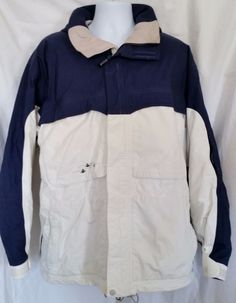 Burton Snowboards Tactic White Blue Zip Front Fleece Jacket Size L #Burton #FleeceJacket