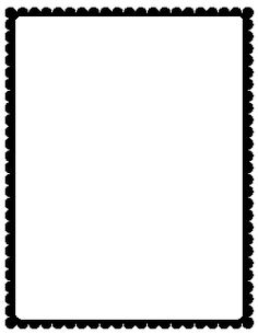 A simple black and white border with a cow print pattern