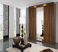 Buy Rauch Imperial Sliding Wardrobe - Front with Wooden Decor and Mirror online by Rauch from CFS UK at unbeatable price. Pine Wardrobe, Wooden Wardrobe, Mirrored Wardrobe, Sliding Wardrobe, Bedroom Wardrobe, Master Bedroom, Cheap Wardrobes, Turkish Furniture, Modern Sliding Doors