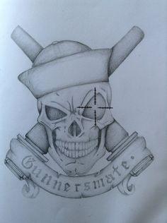 S Navy Gunnersmate symbol by Greatlygeeky on DeviantArt Us Navy Tattoos, Marine Tattoos, Purple Heart Tattoos, Military Tattoos, Wolf Tattoos, Naval Tattoos, Go Navy, Air Brush Painting, Patch Design