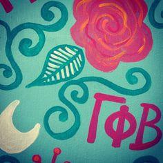 craft | sorority sugar, have the moon facing the correct direction, though Sorority Sugar, Sorority Life, Sorority Girls, Gamma Phi Beta, Phi Mu, Greek Week, Greek Life, Gamma Phi Crafts, Dancing In The Moonlight