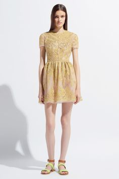 VALENTINO RESORT 2014 THIS MODEL LOOKS LIKE SHE HAS NOT SEEN THE SUN IN MONTHS.