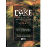 KJV Dake Annotated Reference Bible, Compact Edition, Genuine leather, Burgundy