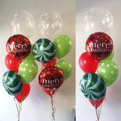 Christmas deluxe bouquet Christmas Balloons, Christmas Party Decorations, 1st Christmas, All Things Christmas, Christmas Bulbs, Holiday Decor, Bouquet, Merry, Party
