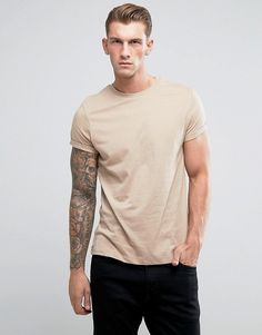8687d8c9075 ASOS T-Shirt With Crew Neck And Roll Sleeve Asos T Shirts