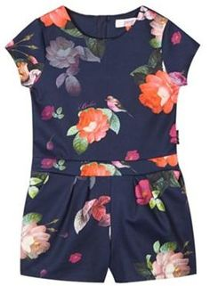 a72e362d1 Ted Baker Girl s navy floral playsuit - ShopStyle