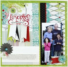 How great is this layout? Memories Captured with Grandparents! Awwww.....Enchanted Power Palette is 30% off for the whole month of March! #scrapbooking